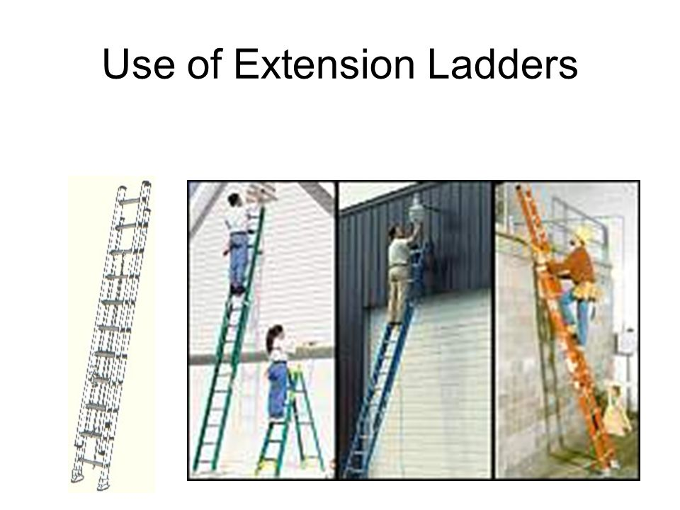 Use of Extension Ladders