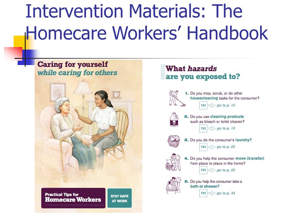 Intervention Materials: The Homecare Workers Handbook