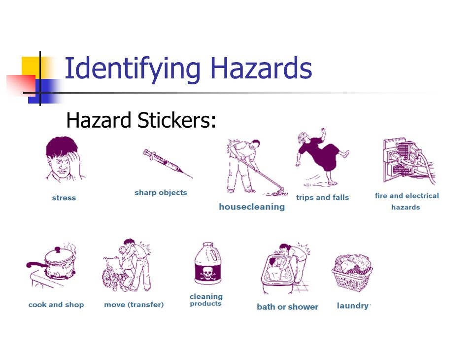 Identifying Hazards Hazard Stickers: