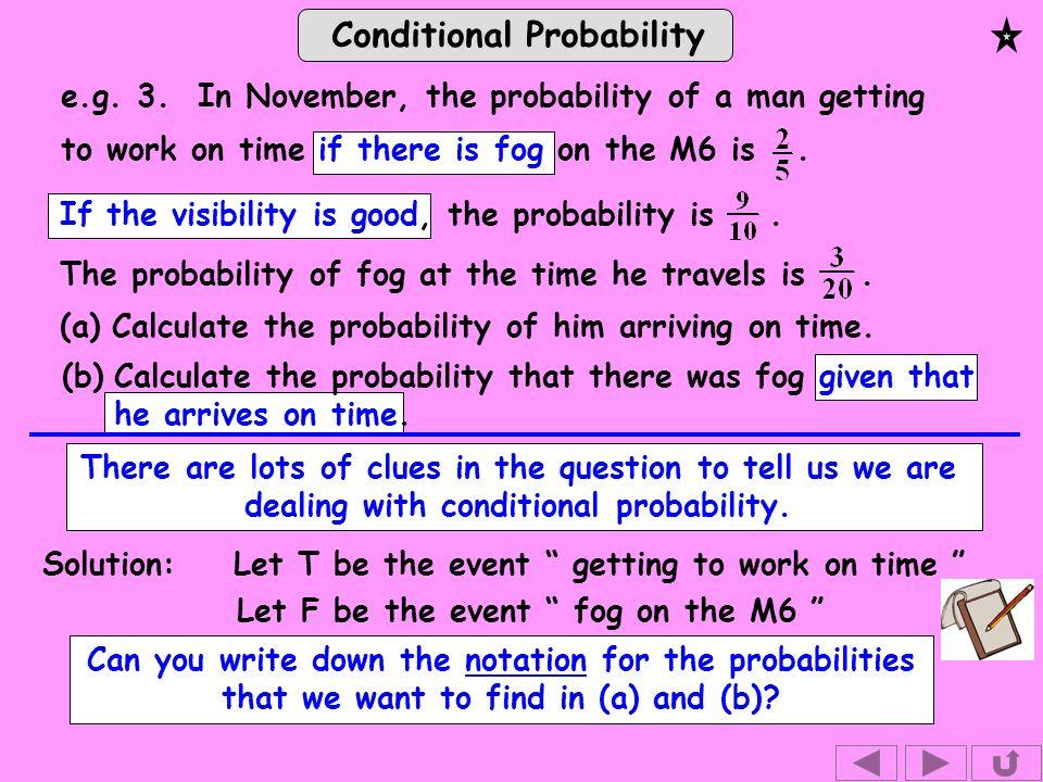 Conditional Probability e.g. 3.