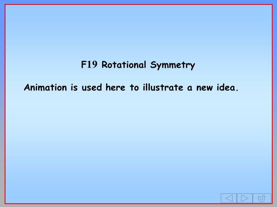 F 19 Rotational Symmetry Animation is used here to illustrate a new idea.