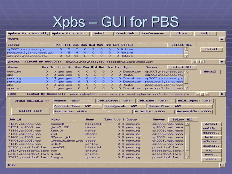 Xpbs – GUI for PBS