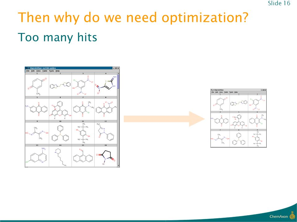 Then why do we need optimization? Too many hits Slide 16