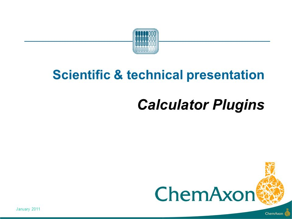 Scientific & technical presentation Calculator Plugins January 2011