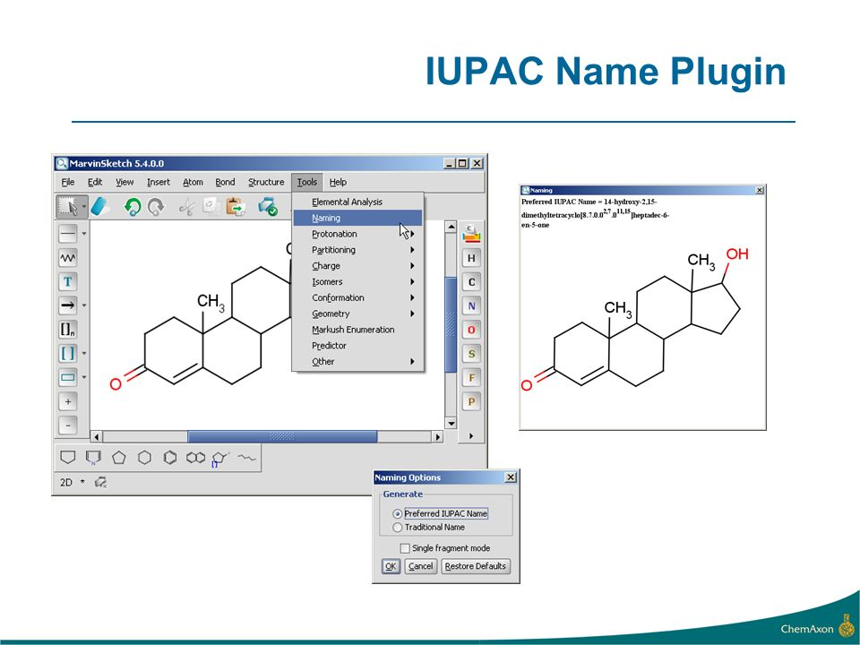 IUPAC Name Plugin