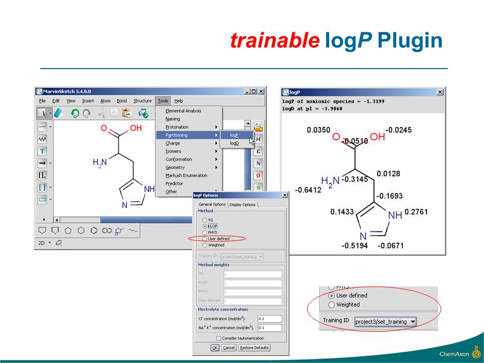 trainable logP Plugin