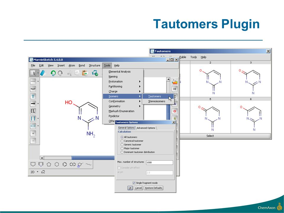 Tautomers Plugin
