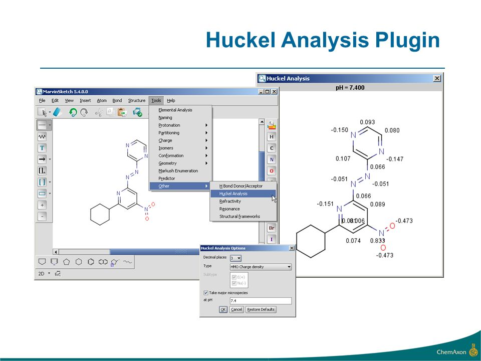 Huckel Analysis Plugin