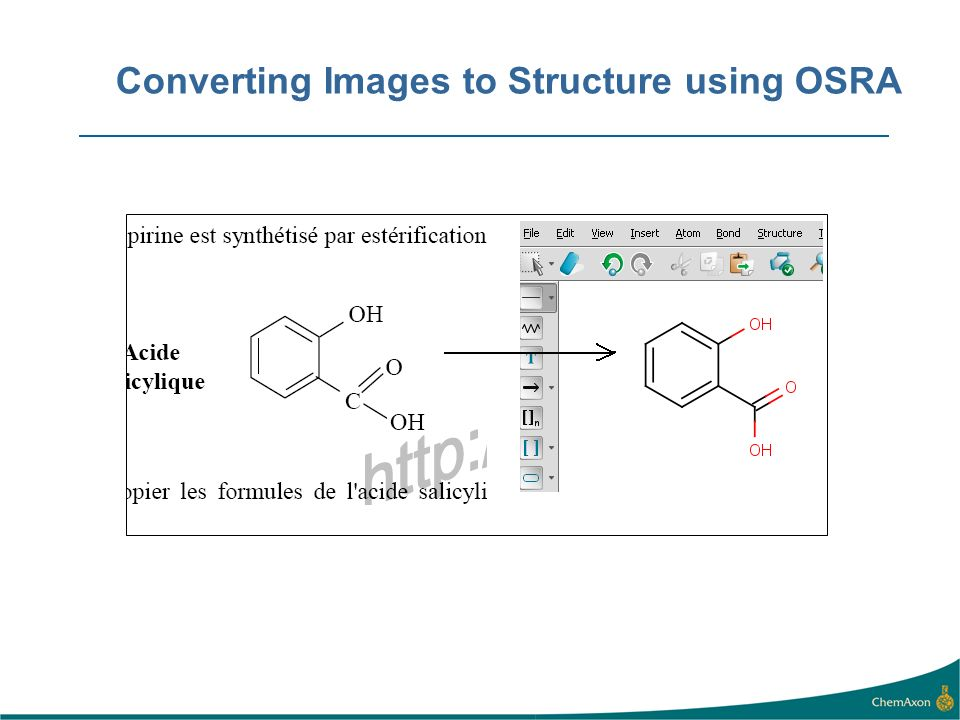 Converting Images to Structure using OSRA