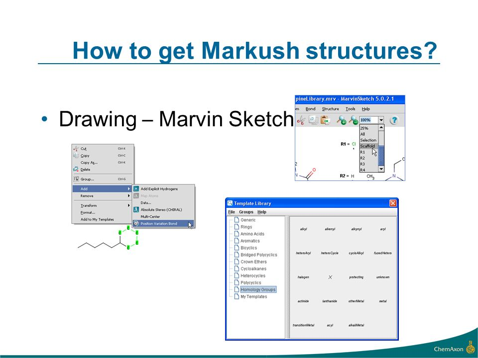 How to get Markush structures Drawing – Marvin Sketch