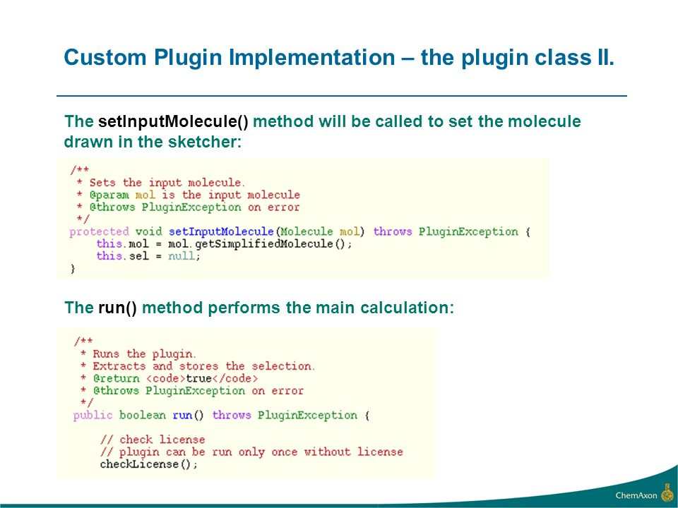 Custom Plugin Implementation – the plugin class II.