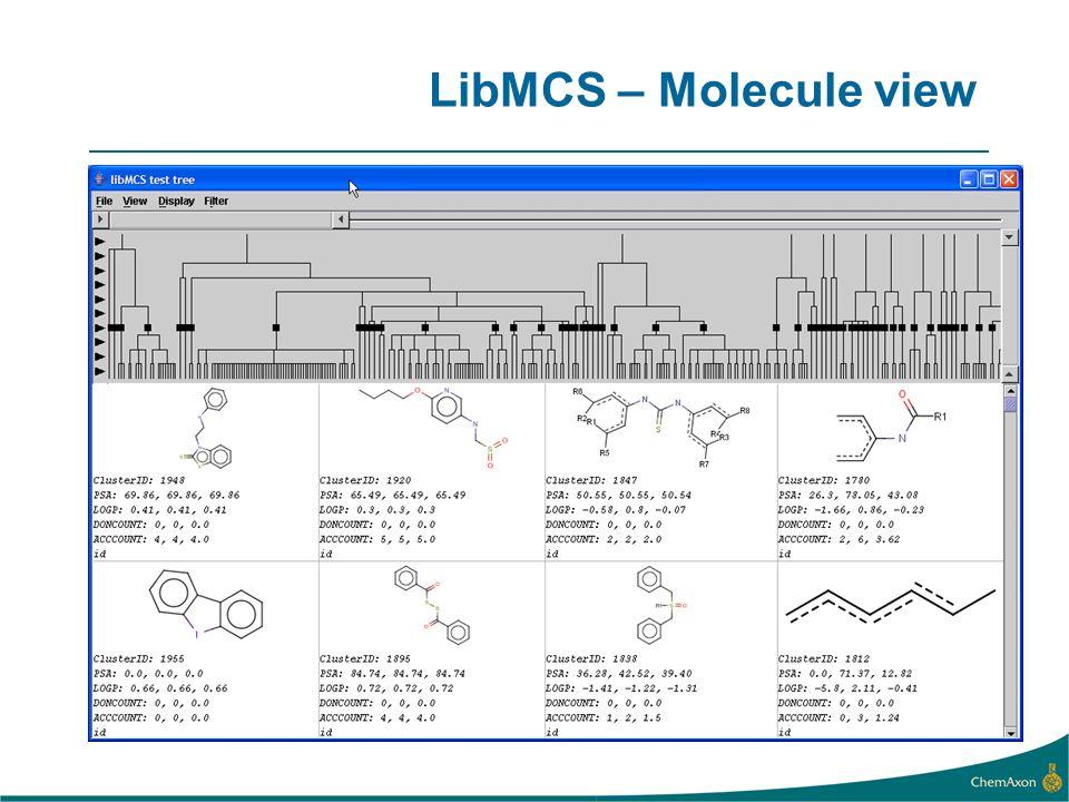 LibMCS – Molecule view
