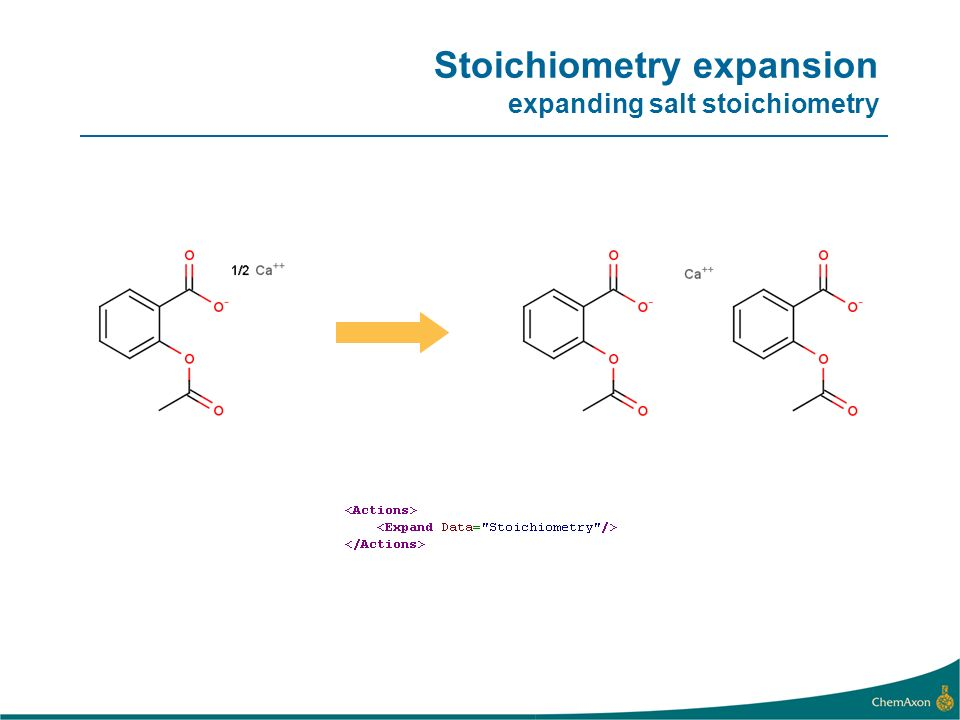 Stoichiometry expansion expanding salt stoichiometry