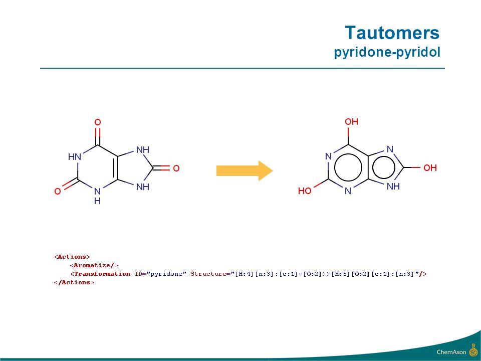 Tautomers pyridone-pyridol