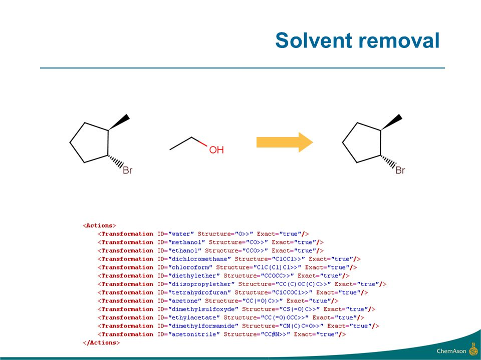 Specific counterion removal
