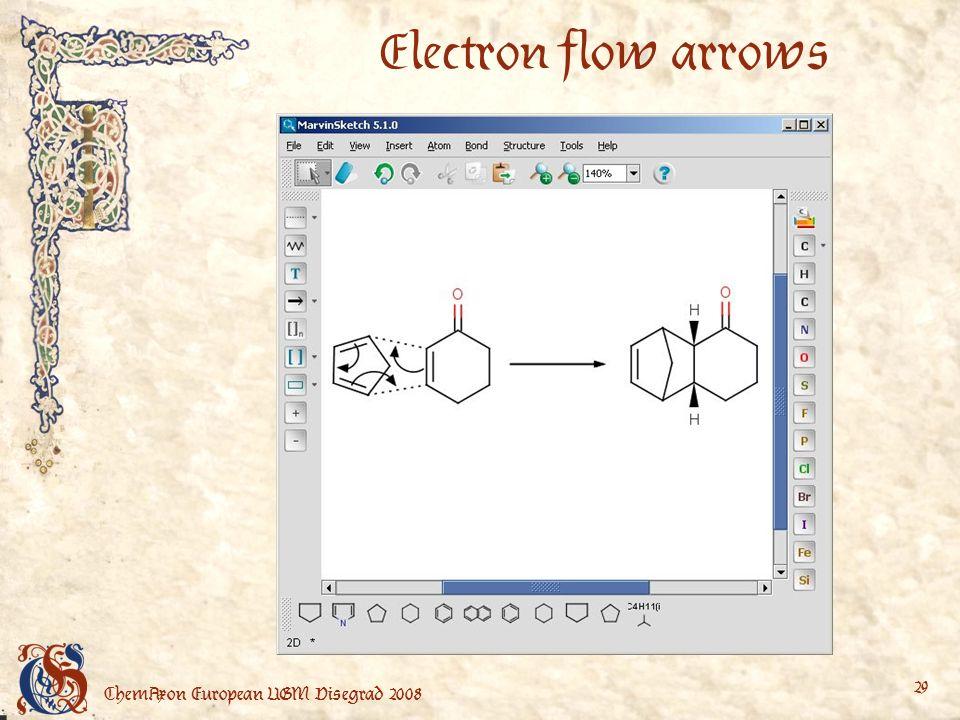 ChemAxon European UGM Visegrad 2008 29 Electron flow arrows
