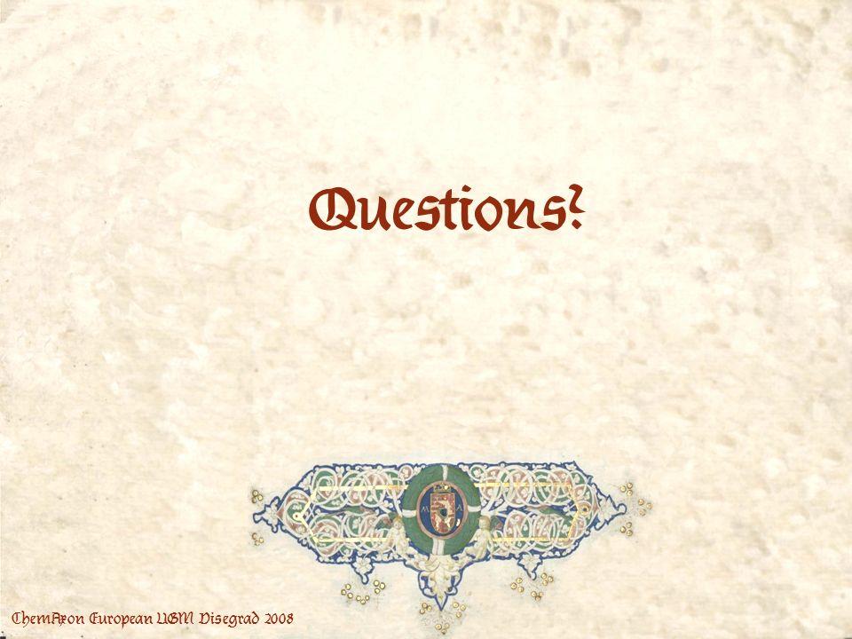 ChemAxon European UGM Visegrad 2008 Questions