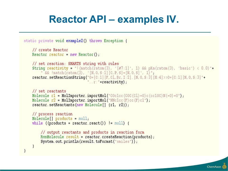 Reactor API – examples IV.