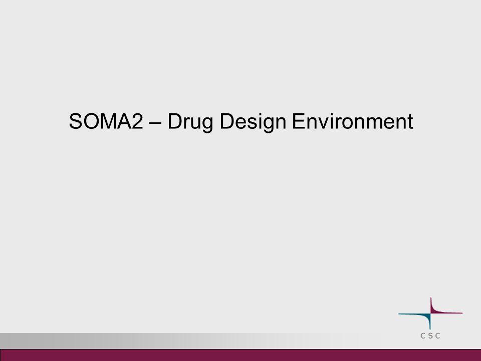 Drug design environment – SOMA2 The SOMA2 project 2002-2006 Tekes (National Technology Agency of Finland) DRUG2000 program.