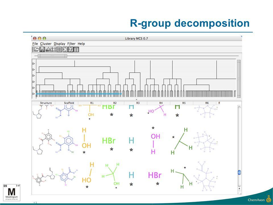 13 R-group decomposition