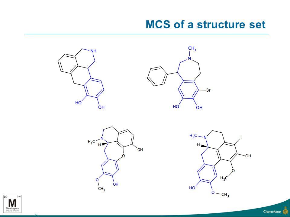 9 MCS of a structure set