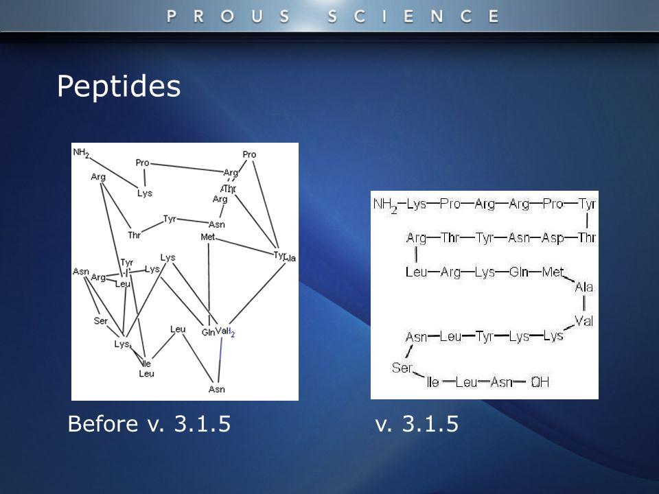 Before v. 3.1.5 Peptides v. 3.1.5