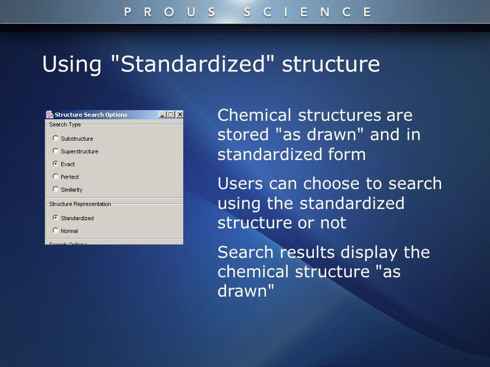 Chemical structures are stored