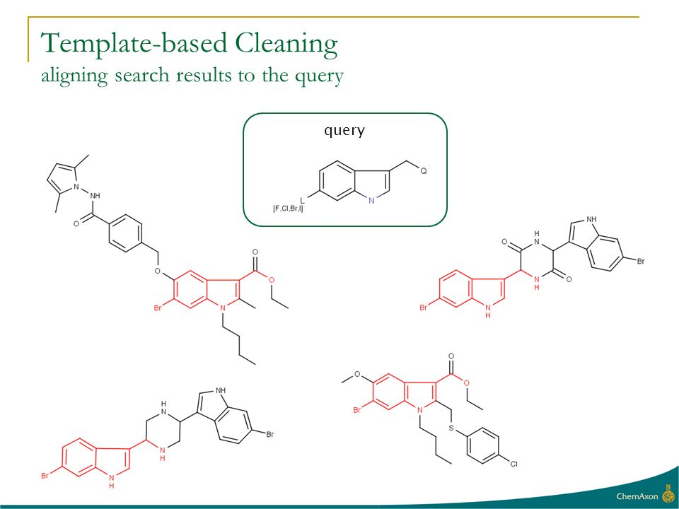 query Template-based Cleaning aligning search results to the query