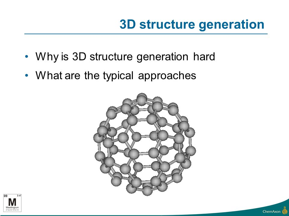 3D structure generation Why is 3D structure generation hard What are the typical approaches