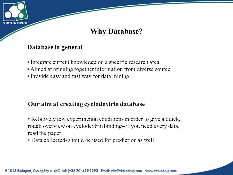 Why Database.