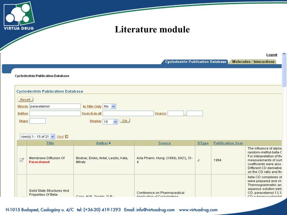 Literature module