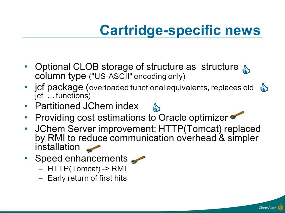 Cartridge-specific news Optional CLOB storage of structure as structure column type (