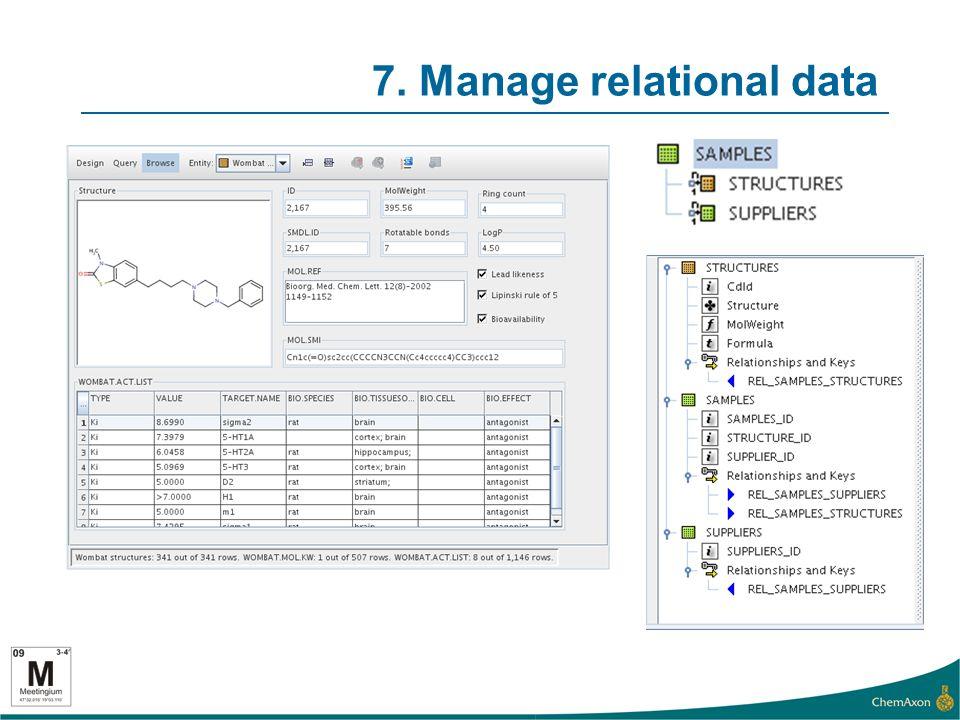 7. Manage relational data