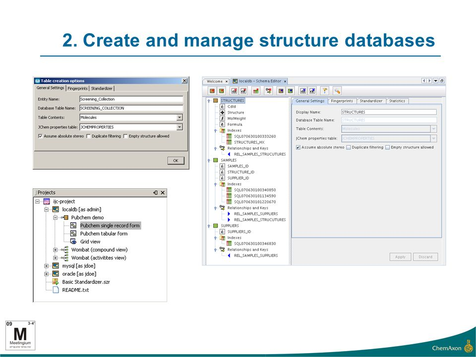 2. Create and manage structure databases
