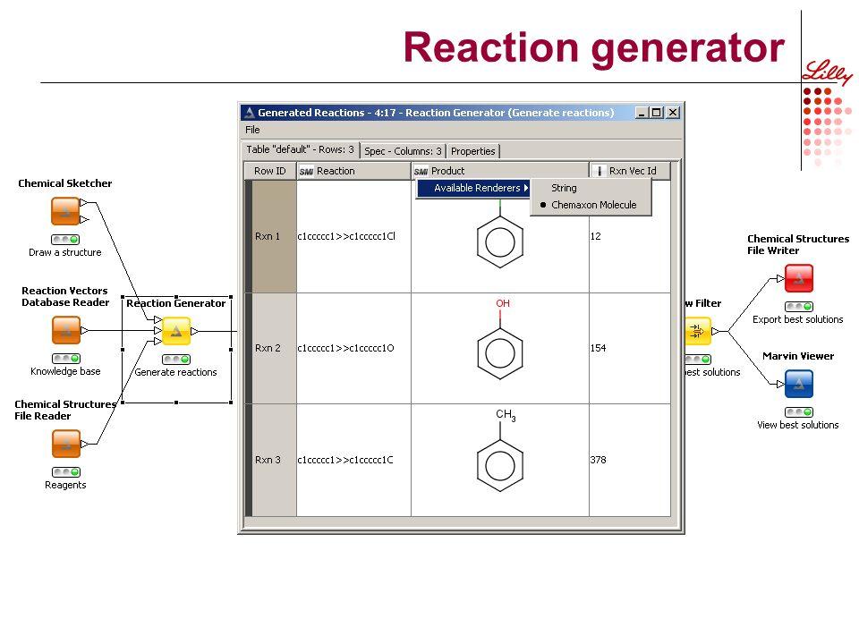 Reaction generator