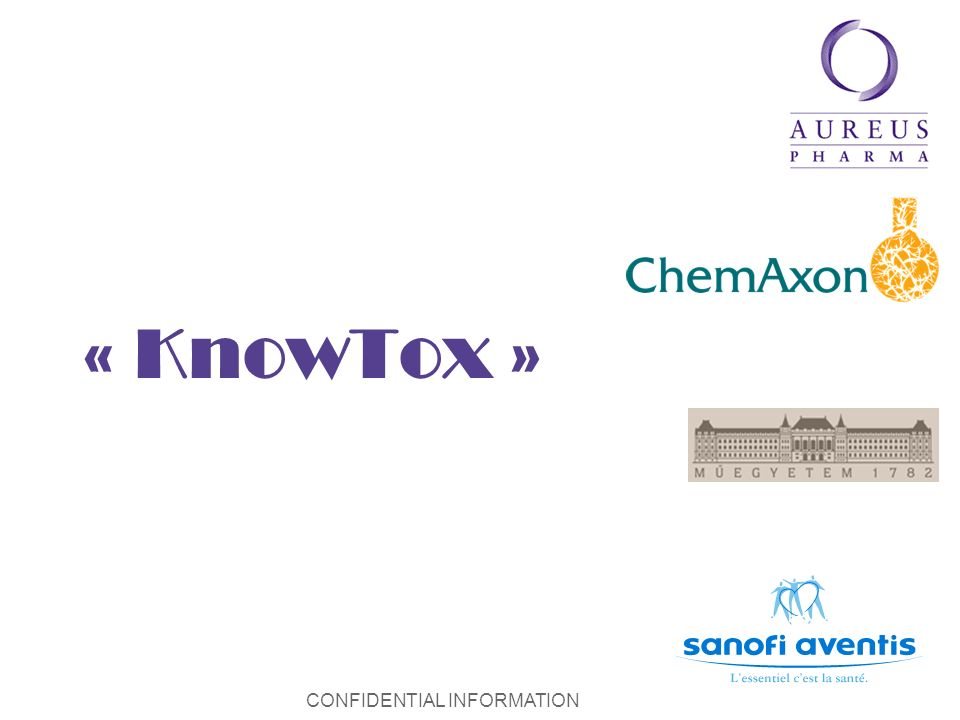 CONFIDENTIAL INFORMATION « KnowTox »