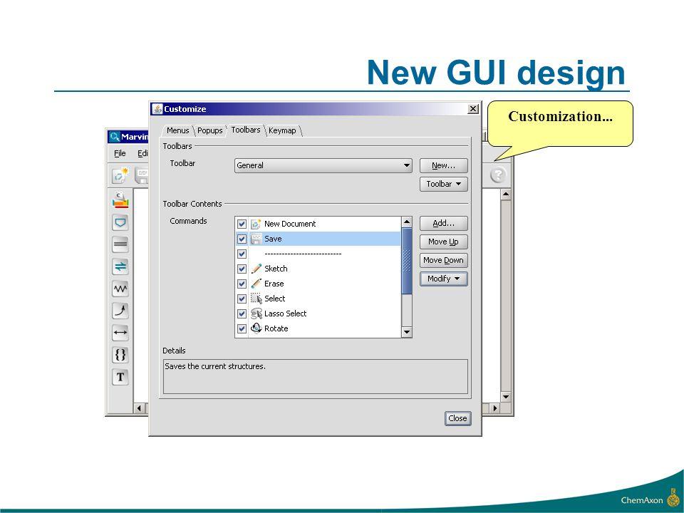 New GUI design Customization...