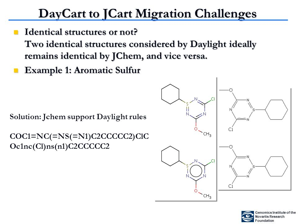 DayCart to JCart Migration Challenges Identical structures or not.