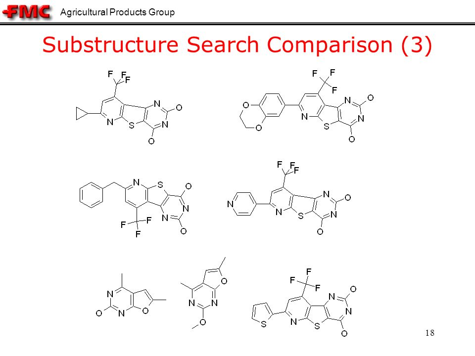 Agricultural Products Group 18 Substructure Search Comparison (3)