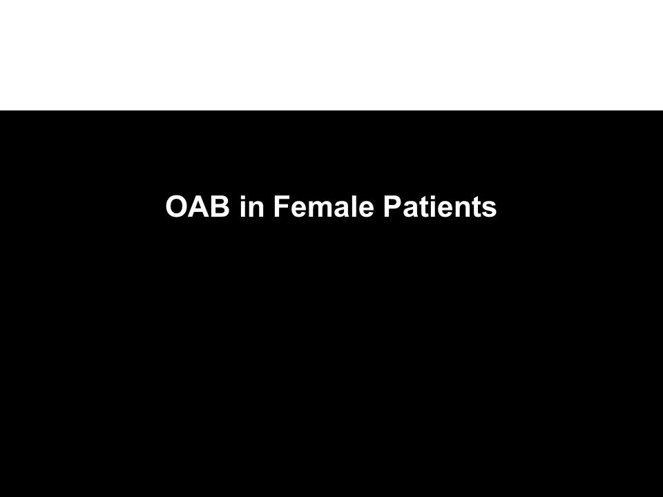 OAB in Female Patients