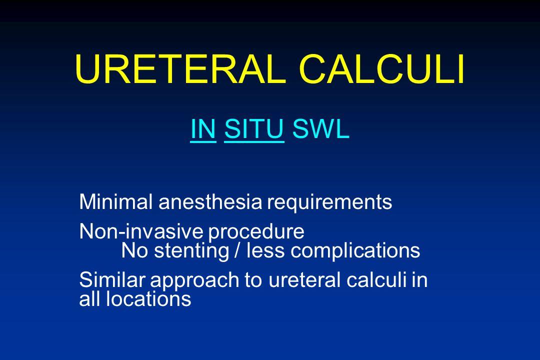 URETERAL CALCULI 3RD GENERATION SWL