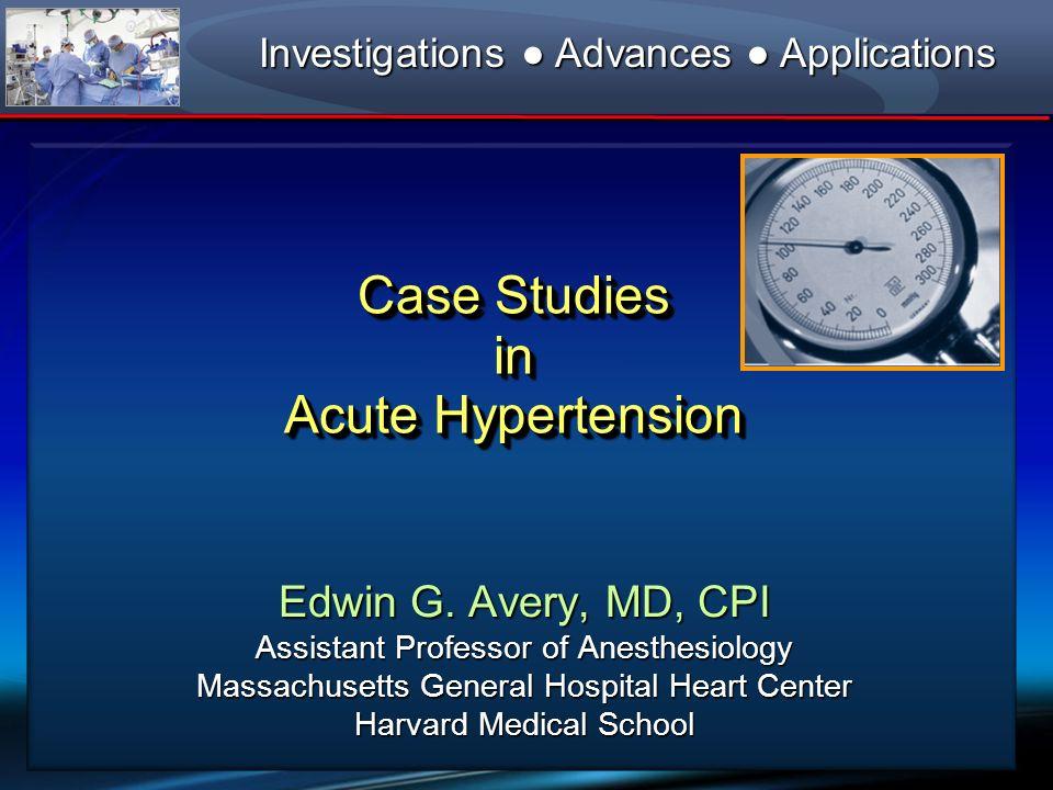Clevidipine (mg/hr) 0 12 6 4 2 8 10 196 192 188 176 168 166 162 Case Study #2: Acute Coronary Syndrome Hemodynamic Control