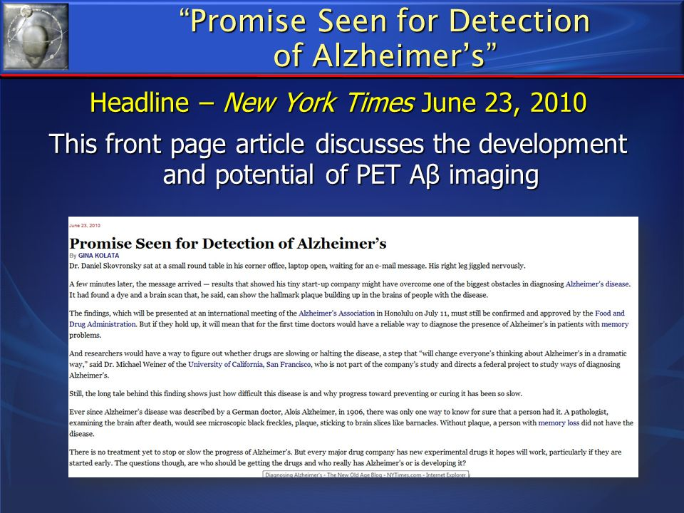 Summary Ab as the likely culprit leading to AD is a logical target for anti-AD therapies but to date, Phase III trials have not been successful Ab as the likely culprit leading to AD is a logical target for anti-AD therapies but to date, Phase III trials have not been successful Ach provides targets for symptomatic benefit Ach provides targets for symptomatic benefit Dysfunction/degeneration of the cholinergic projection neurons is a later stage event in AD Dysfunction/degeneration of the cholinergic projection neurons is a later stage event in AD Dysregulation of the cholinergic system is an early event Dysregulation of the cholinergic system is an early event Mufson et al 2009,Davis et al 1999, DeKosky et al 2002, Mufson et al 200, Mufson et al 2002