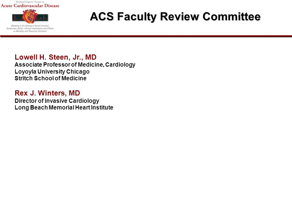 ACS Faculty Review Committee Lowell H.