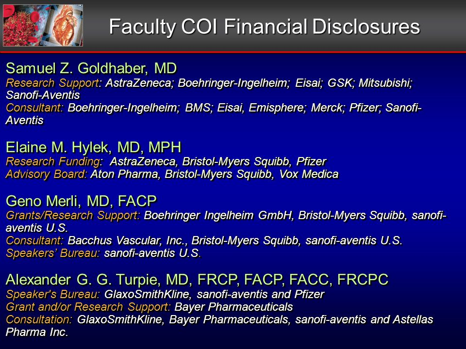 Faculty COI Financial Disclosures Samuel Z.