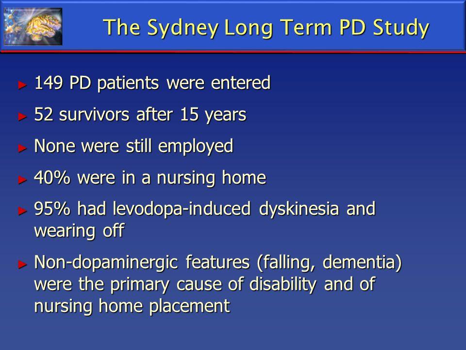The Sydney Long Term PD Study 149 PD patients were entered 149 PD patients were entered 52 survivors after 15 years 52 survivors after 15 years None w