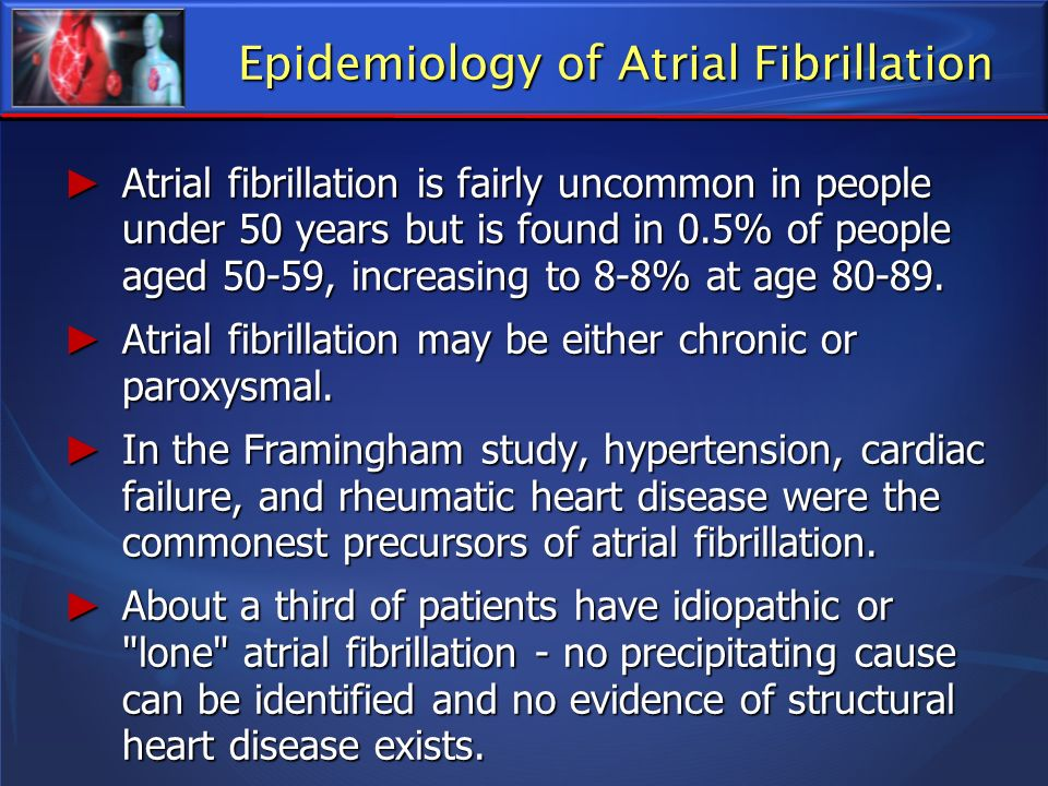 Treatment, A Brief History 1982, The epidemiological importance of atrial fibrillation as an important precursor of cardiac and cerebrovascular death was investigated by William Kannell and colleagues.