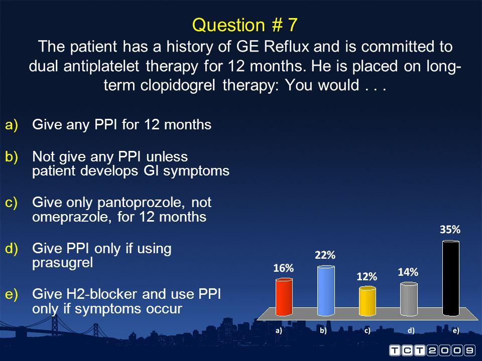 Antman, E. M. et al. J Am Coll Cardiol 2008;51:2028-2033 Prasugrel for 3 Days, 30 Days or 15 Months? Prasugrel for 3 Days, 30 Days or 15 Months?