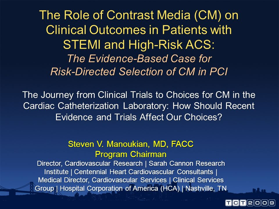 Thrombosis Induction and Mitigation with Contrast Media: Conclusions There are some provocative clinical data, but are they relevant in the current er