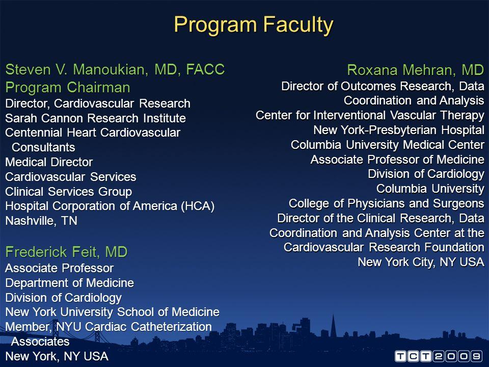 Program Faculty Steven V.